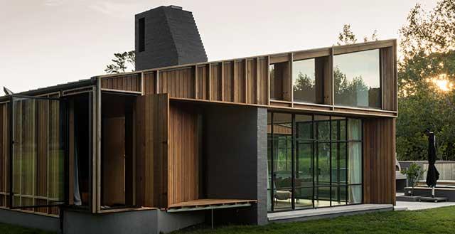 Lightweight Replica Chimney on Architecturally Designed Matakana New Build