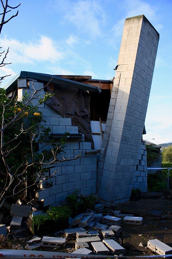 Earthquake Damanged Chimney