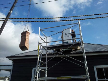 Auckland replica Red Mantle chimney