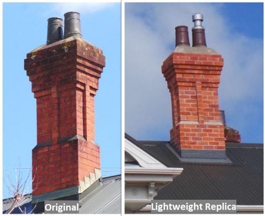 Auckland Heritage chimney replacement using original brick slips