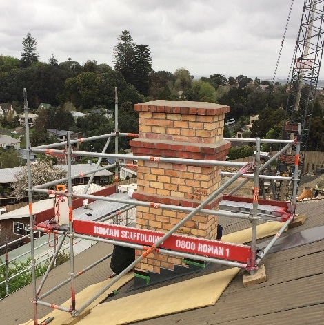 Heritage replacement chimney for Ranfurly House Aucklandmney for