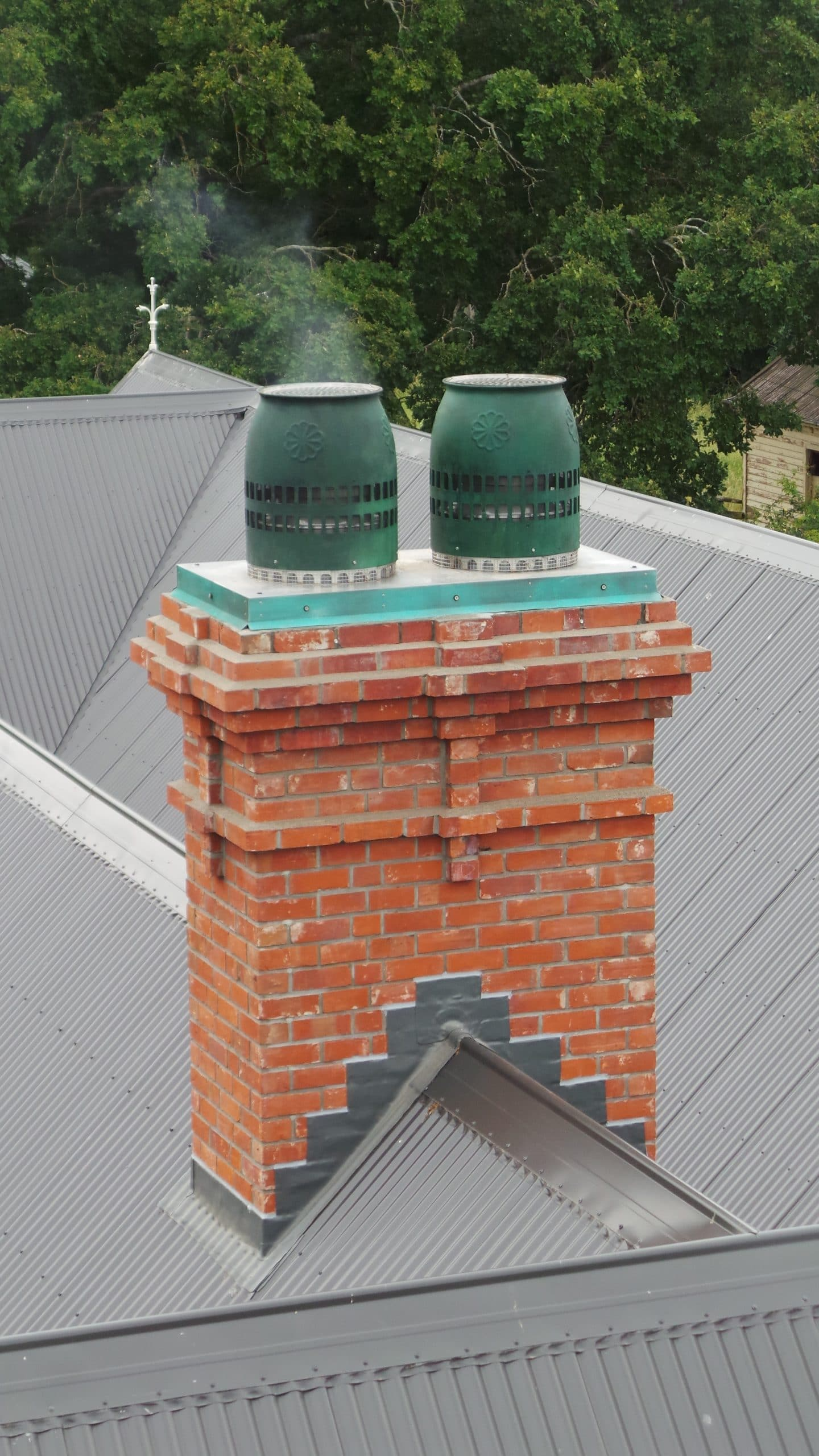 Replacement Replica brick slip compositechimney with open fires