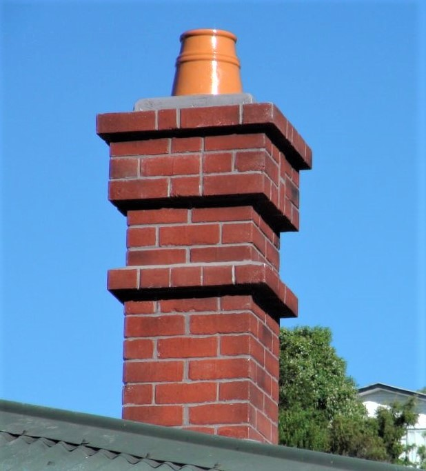 Full fibreglass chimney replica with realistic brick detail in mould