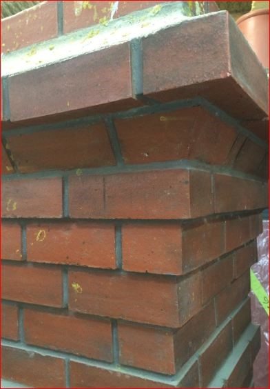 Fibreglass chimney with realistic brick detail moulded into surface