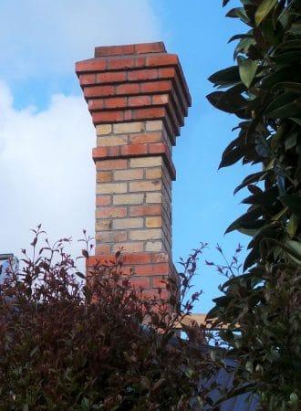 Auckland brick slip chimney using original heritage brick