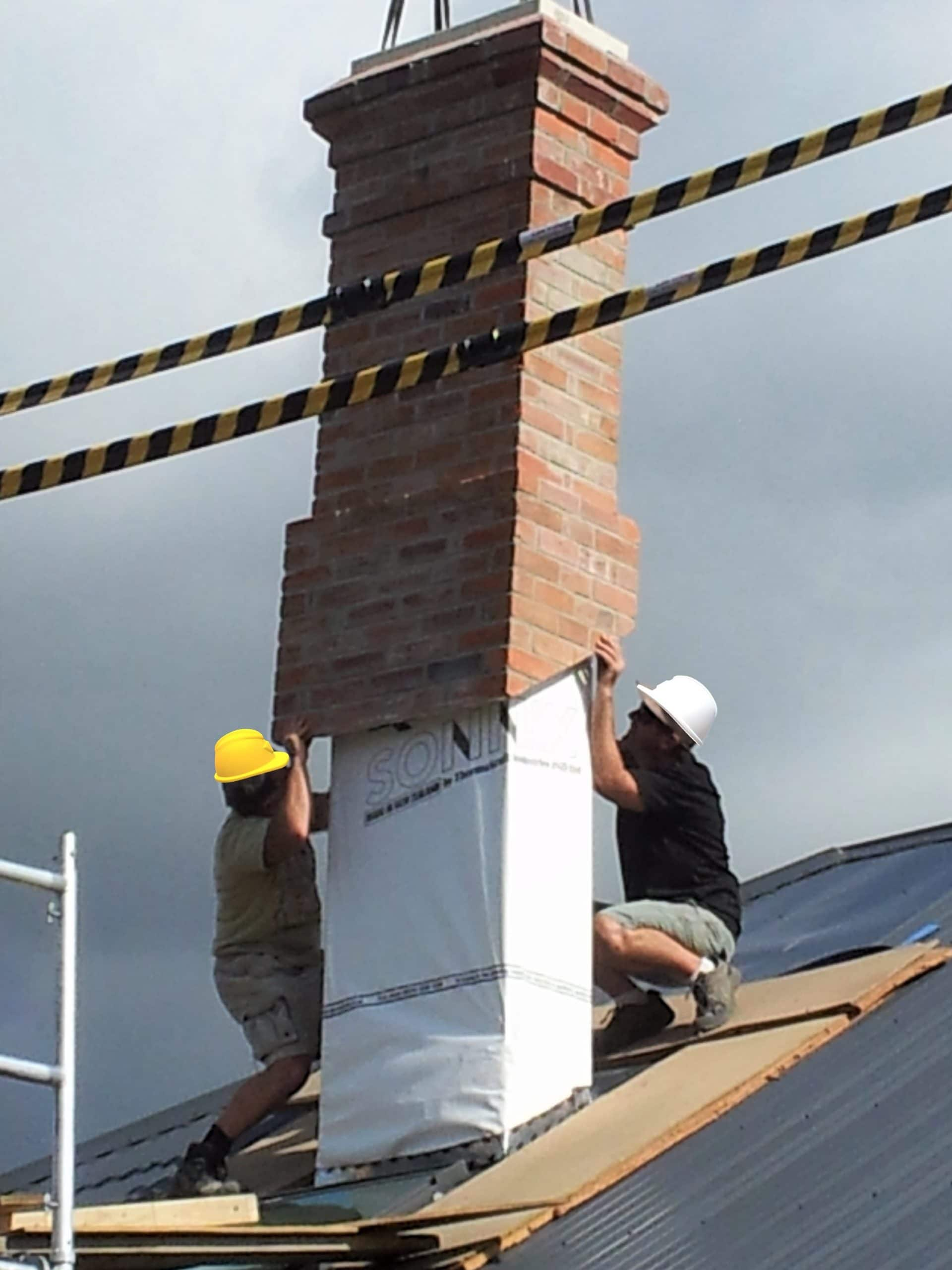 Auckland repair of chimney using brick slips qpc