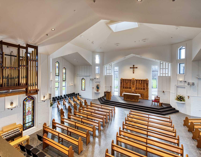 Interior of St Bede's chapel
